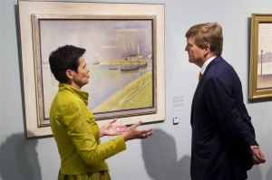 Koning opent tentoonstelling in Kroller-Muller