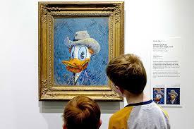 Retrato del Pato Donald es el nuevo refuerzo del Museo Van Gogh